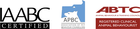 Registered Clinical Animal Behaviourist (ABTC) Full Member Association of Pet Behaviour Counsellors (APBC) Certified Parrot Behaviour Consultant (IAABC)