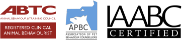 Registered Clinical Animal Behaviourist (ABTC) Full Member Association of Pet Behaviour Counsellors (APBC) Certified Parrot Behaviour Consultant (IAABC)
